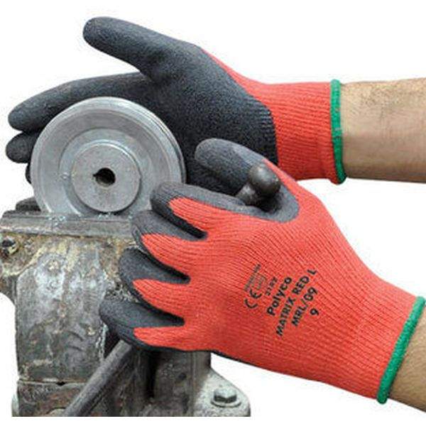 Polyco Matrix Red L Work Gloves