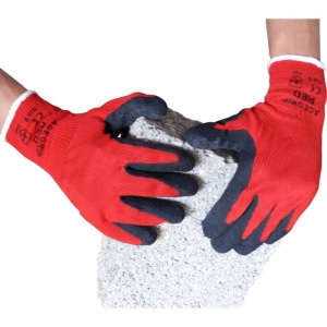 AceGrip Red General Purpose Latex Coated Gloves (Full Case of 120 Pairs)