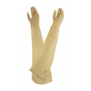 Ansell AlphaTec 55-104 Natural Rubber Latex Chemical-Resistant Gauntlet Gloves