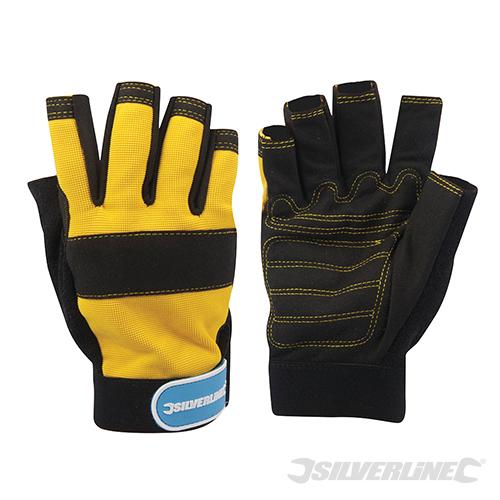 Silverline Fingerless Neoprene Mechanics Gloves 633906