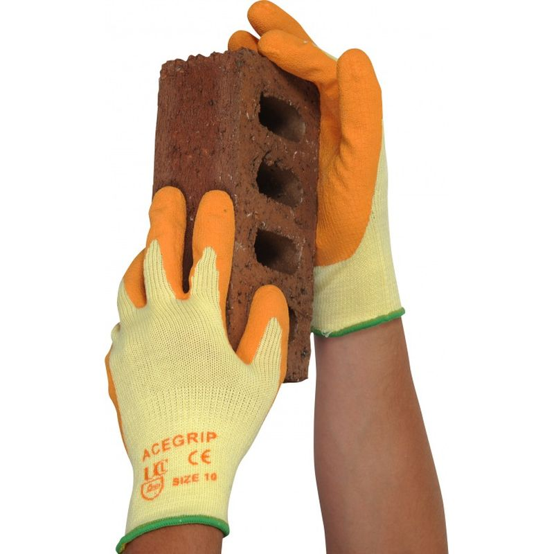 Orange Latex Gloves 11