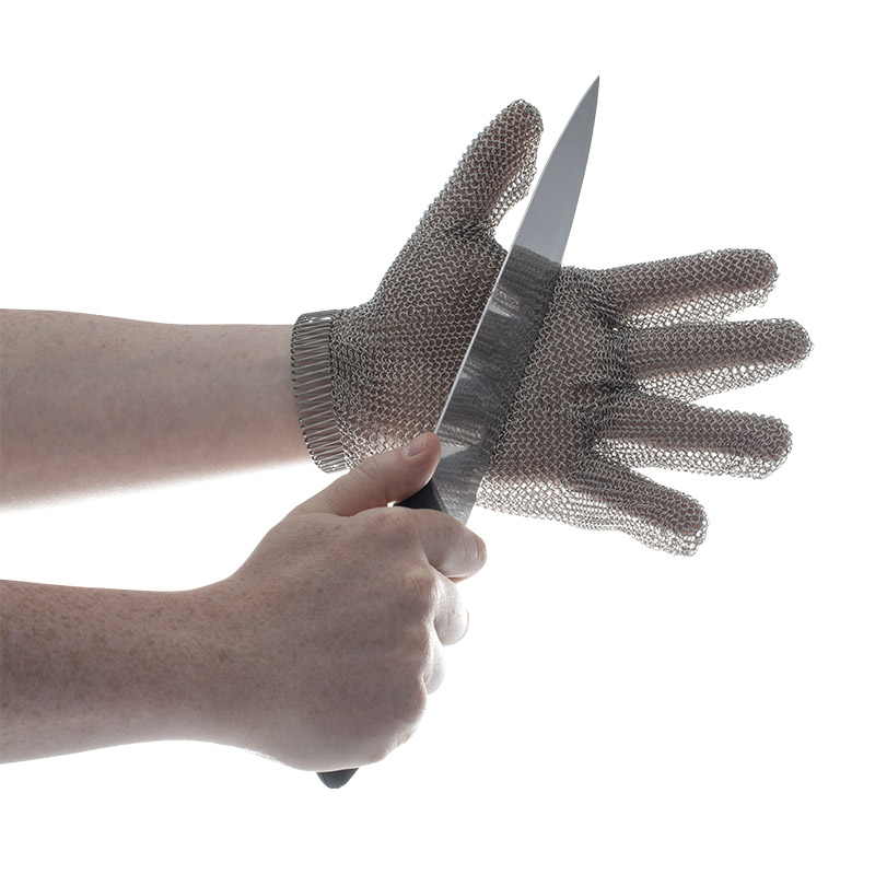 Honeywell chainexium chainmail oyster glove 2533003 r0302 for Fish handling gloves