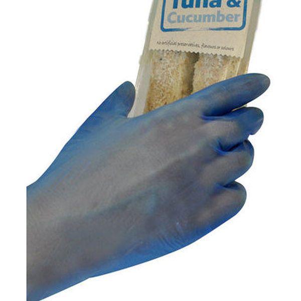 Polyco Bodyguards Gl843 Blue Vinyl Disposable Gloves