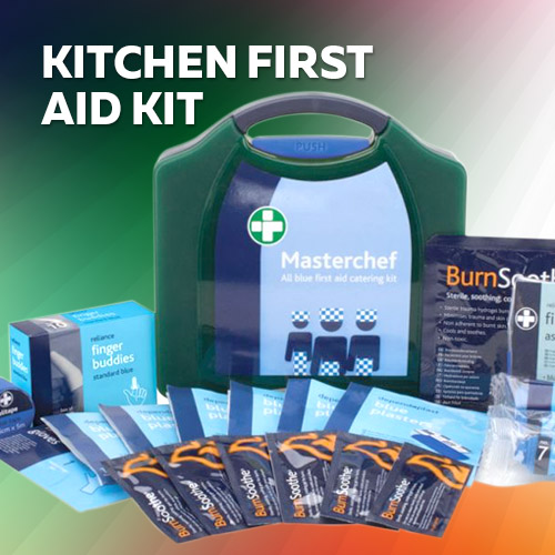Food preparation gloves for First aid kits for restaurant kitchens