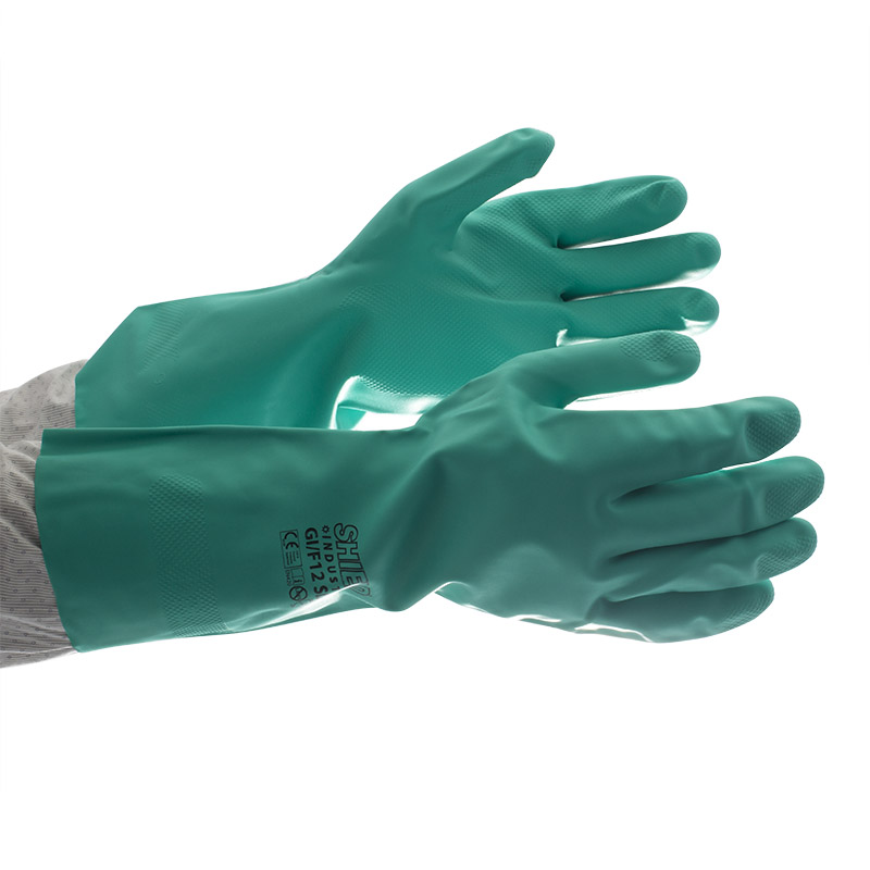 Shield Gi F12 Green Heavy Duty Industrial Nitrile Gloves