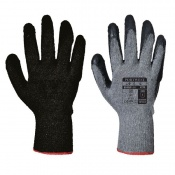 Portwest Black and Grey Latex Grip Gloves A150BK