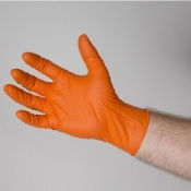 Bastion Nitrile Powder Free Micro Textured Orange Gloves BNG681X