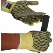 Medium Weight PVC Dotted Kevlar Gloves KKM10DD