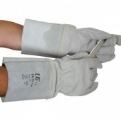 Leather Presswork Gloves with Extended Cuff PK55-G4