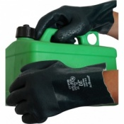 Green Double Dipped 11'' PVC Gauntlets V327
