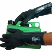 Green Double Dipped 14'' PVC Gauntlets V335