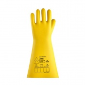 Ansell E024B Electrician Class 4 Black Insulating Rubber Gloves