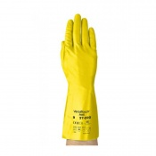 Ansell VersaTouch 37-220 Yellow Nitrile Gauntlet Gloves