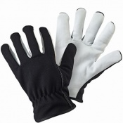 Briers Black Lined Leather Palm Gardening Gloves B6320