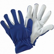 Briers Blue Lined Leather Palm Gardening Gloves B6321