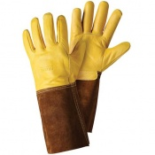 Briers Premium Golden Leather Gardening Gauntlet Gloves B6534