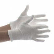 Kenro Cotton White Film Handling Gloves CG001