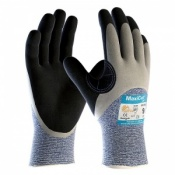 MaxiCut Oil Resistant Level 5 3/4 Coated Grip Gloves 34-505