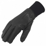 Men's Uniform Lined Leather Police Gloves with Cuff