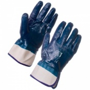 Supertouch Nitrile Heavyweight Full Dip Gloves - With Safety Cuff 2217