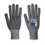 Portwest Sabre Cut-Resistant PVC Dot Palm Gloves A640