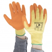 Predator 4 Grip Orange Latex Coated Cut Level 2 Safety Gloves 2LCTC