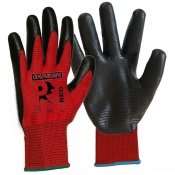 Predator Red Nitrile Coated Cut Level 1 Safety Gloves NFPL