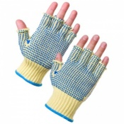 Supertouch Fingerless Kevlar PVC Dot Gloves - 10 Gauge 3057