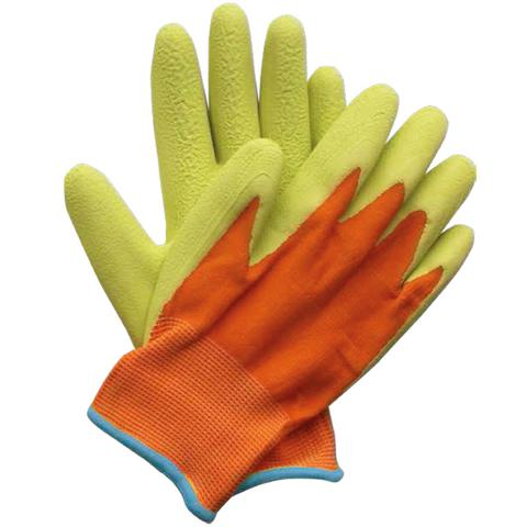 Briers Kids Junior Digger Green and Orange Gardening Gloves