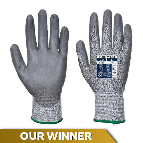 Portwest A622G7 Level 5 Cut-Resistant PU Coated Gloves