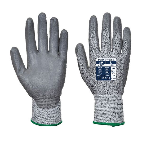 Portwest Level 5 Cut-Resistant PU Coated Gloves A622G7