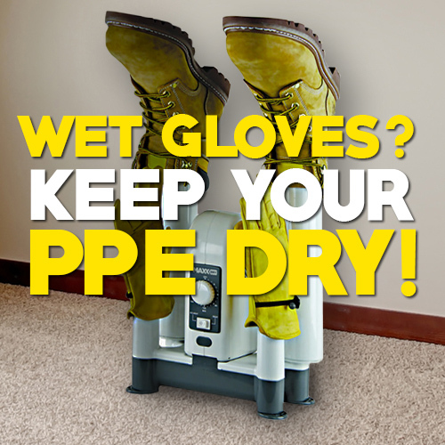 Dry Gloves with the MaxxDry Boot and Glove Dryer
