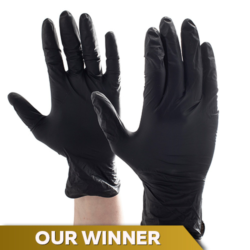 Aurelia Bold Black Nitrile Gloves