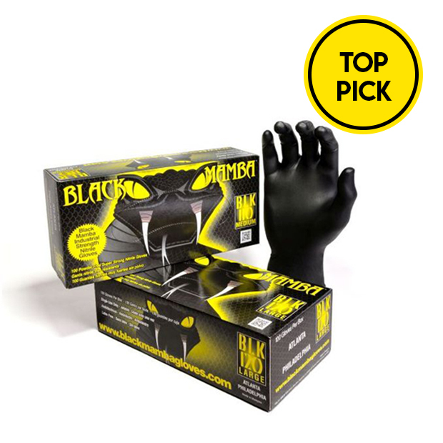 Black Mamba Powder-Free Gloves