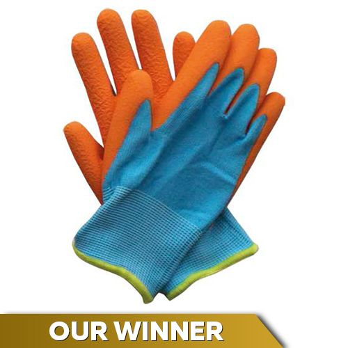 Briers Kids Junior Digger Orange and Blue Gardening Gloves B531