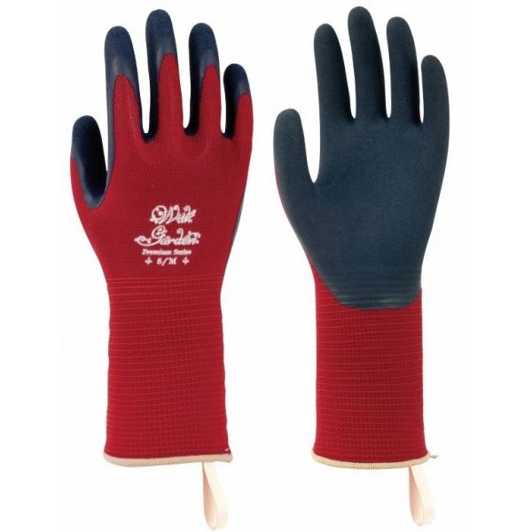 Towa Foresta TOW393 Burgundy Premium Latex-Coated Gardening Gloves