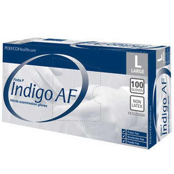 Polyco Finite P Indigo AF Nitrile Disposable Gloves