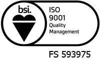 We are an ISO 9001 accredited business