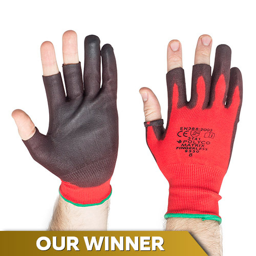 Polyco Matrix Fingerless Work Gloves 933