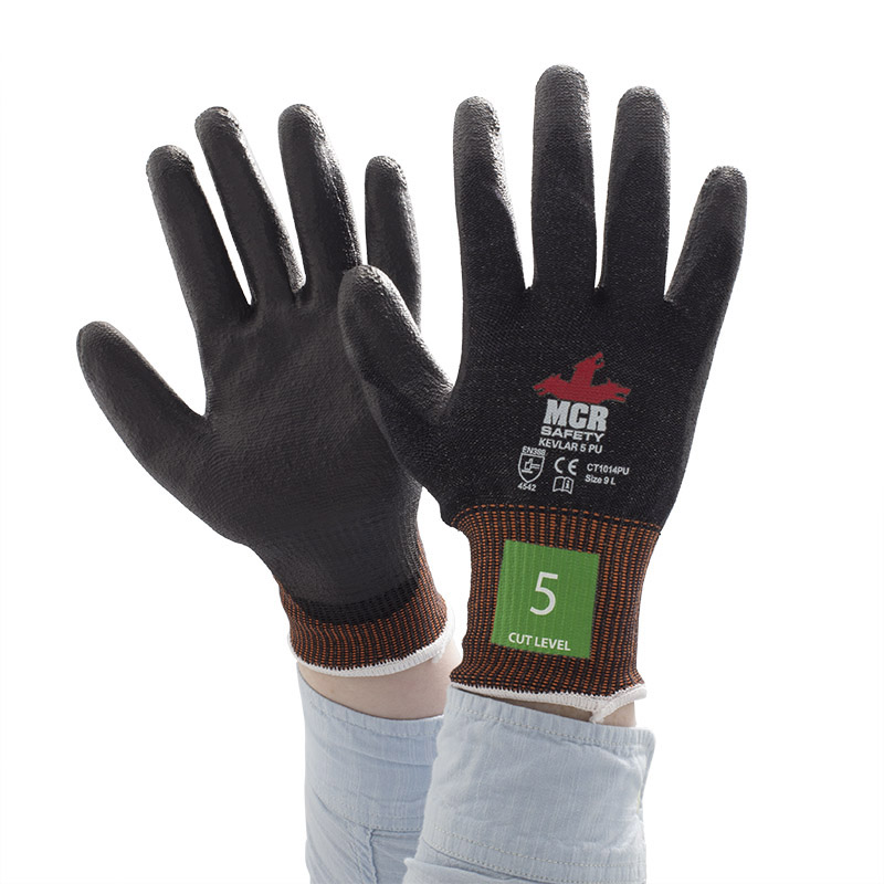 MCR Safety CT1014NF Nitrile Foam Kevlar Level 5 Cut Resistant Gloves