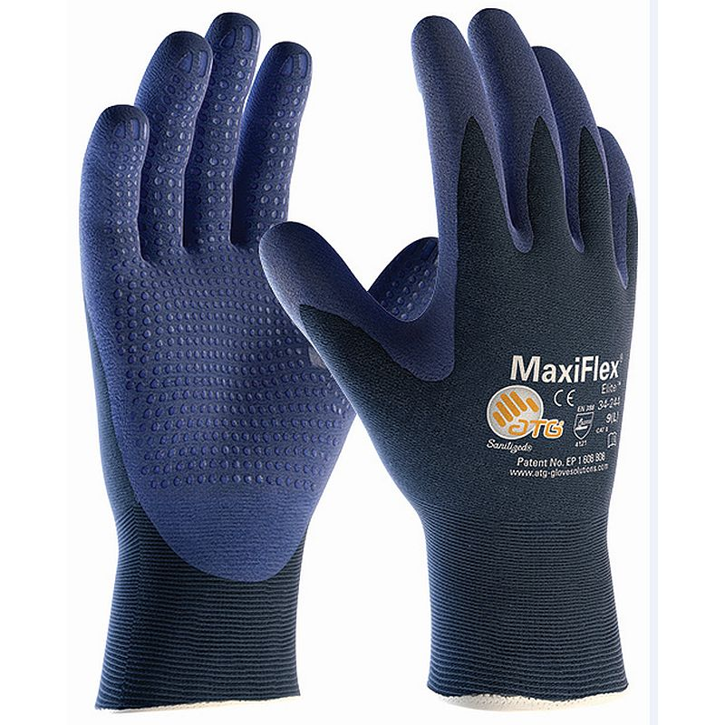MaxiFlex Elite Handling Gloves with Dotted Coated Palm