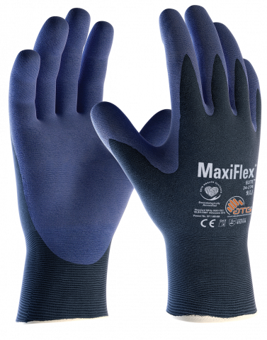 MaxiFlex Elite Palm-Coated Handling Gloves with Knitwrist 34-274