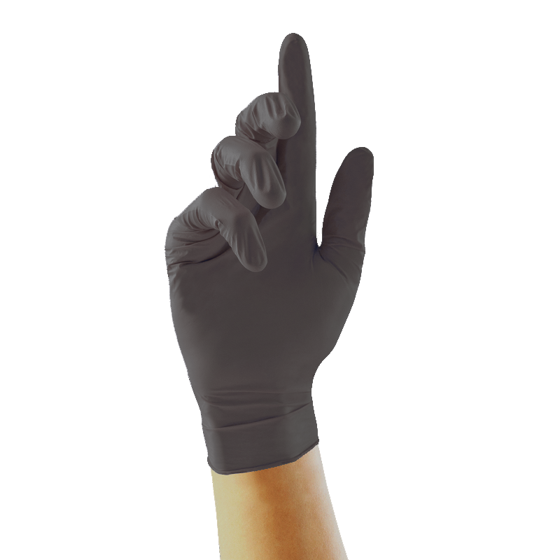 UniGloves Select Black Nitrile Tattoo Artists' Gloves