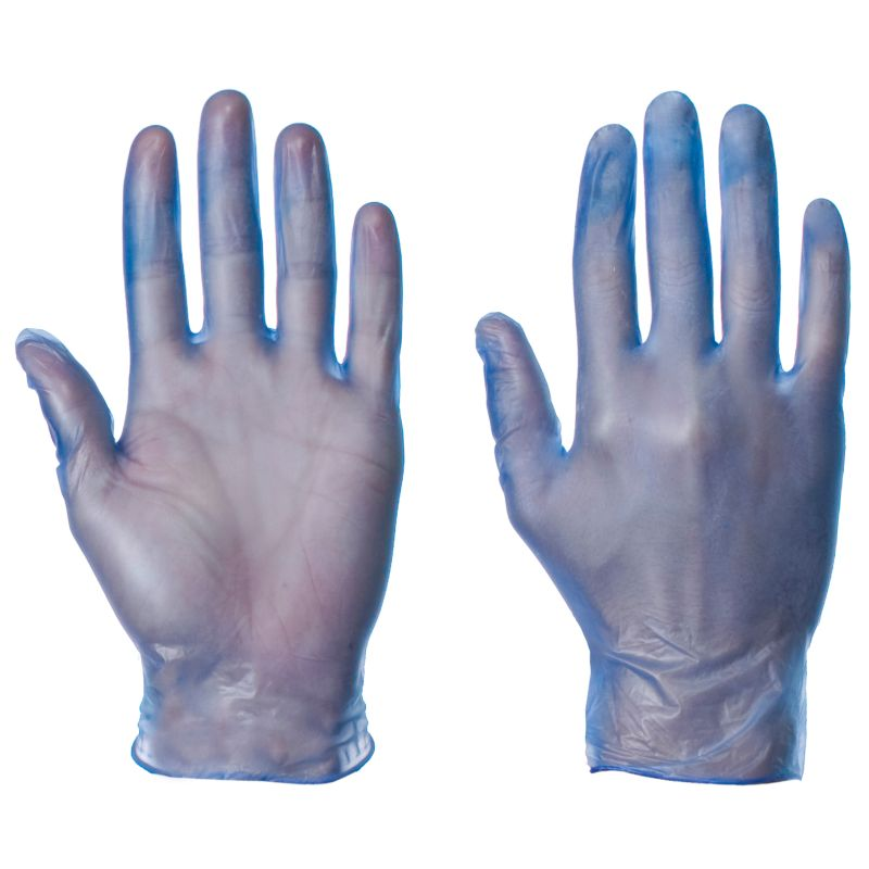 Supertouch Blue Powdered Vinyl Gloves