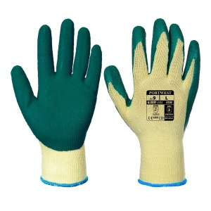 Portwest Latex Green Grip Gloves A100GN