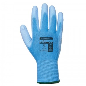 Portwest Blue PU Palm Gloves A120B4