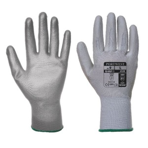Portwest Grey PU Palm Gloves A120GR