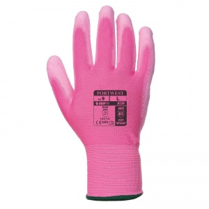Portwest Pink PU Palm Gloves A120P9
