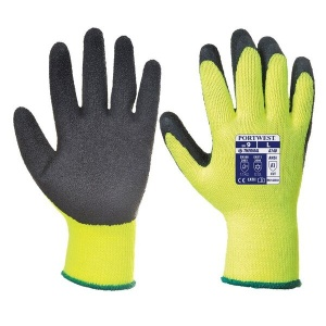 Portwest A140 Thermal Grip Black and Yellow Gloves