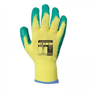 Portwest Green Latex Grip Gloves A150GN